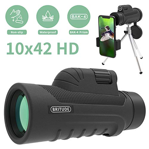 Cheapest Price! Monocular Telescope, 10x42 High Definition Monocular with Smartphone Adapter & Tripo...