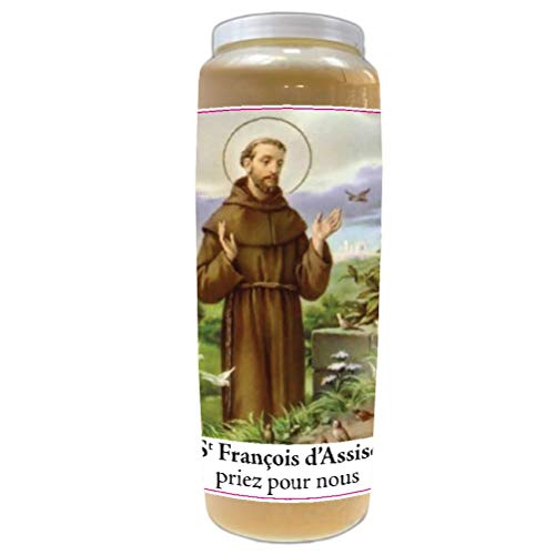 Bougie de prières Saint-François d'Assise - Neuvaine