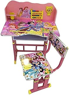 RAN-KID-DS-1004-E Princess themed Kids' Study Table, Pink - 70x70x50cm