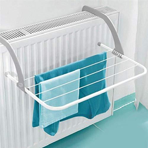 LKU Kleiderbügel Tragbarer zusammenklappbarer Wäscheständer Wäscheständer für Badezimmer im Freien Balkon Wasch- und Trockenmaschine Wäscheständer, dunkelgrau