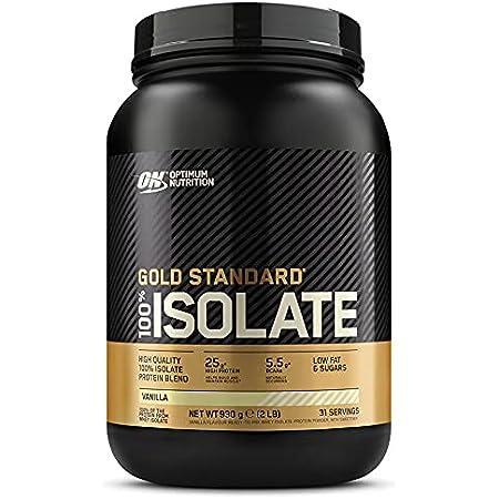 Optimum Nutrition 100% Gold Standard Isolate, Protéine en Poudre, Whey Isolate, Proteines Musculation Prise de Masse, Saveur Vanille, 31 Portions, 930g