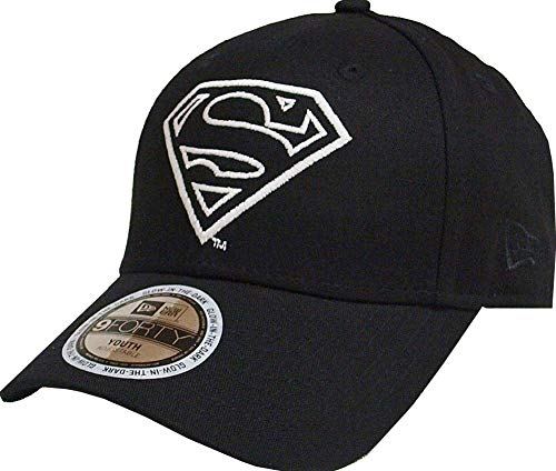 New Era Superman Glow In The Dark 9Forty Strapback Cap Black Youth Jugendliche