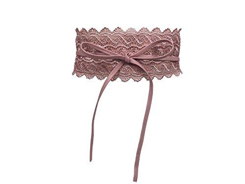 CALIYO Taillengürtel Taillen Gürtel Damen Gürtel für Damen Wickelgürtel Bindegürtel Spitze in modischen Farben One Size (81262, Pink)