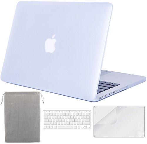 Sykiila para MacBook Pro de 13 pulgadas con vitrina de retina (modelo: A1425/A1502) Cubierta dura con protector de pantalla HD + Cubierta de teclado + Funda - Mate transparente