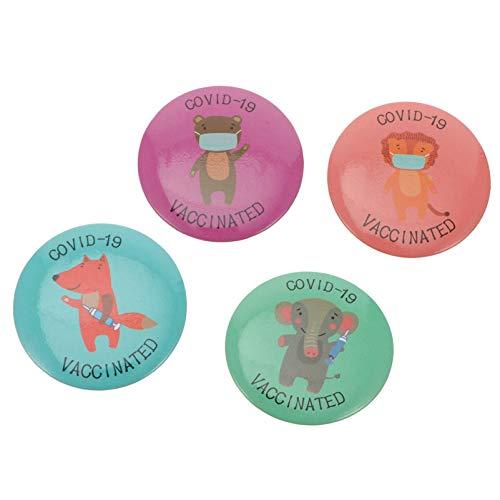 NUOBESTY 4 Stück Covid - 19 Button Pin Button Pin Gesundheitsnadel Werbung Abzeichen Snap-On Brosche Epidemie Pin Badge
