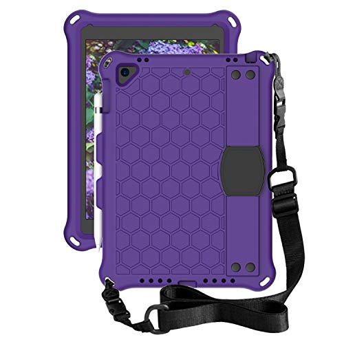 for iPad Air 2 Tablet Case for Kids - Durable Lightweight EVA + PC Shockproof Handle Stand Cover, with Shoulder Strap+ Pen Holder