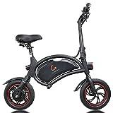 SUMEND EU Warehouse Kugoo Kirin B1 Bicicleta eléctrica para adultos de 250W, motores de velocidad máxima de 25km/h, hasta 25km y peso de solo 12kg