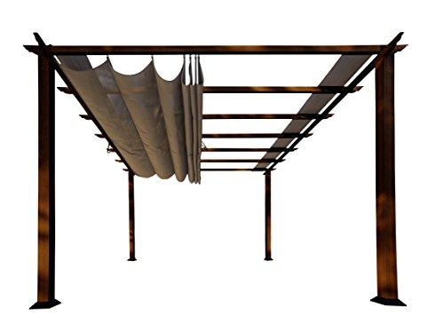 Paragon Outdoor PR11WD2C Backyard Structure Soft Top mit Chilean Ipe Rahmen, Valencia Pergola, 30,9 x 30,9 cm, Kakao