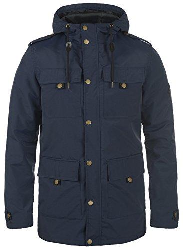 Redefined Rebel Moe Herren Übergangsjacke Parka Mantel Herrenjacke Jacke mit Kapuze, Größe:M, Farbe:Navy