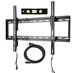 """Fits 23"""" to 75"""" TV with VESA from 100x100 to 684x400mm (mounting hole pattern up to 26.9"""" Horizontal by 16"""" Vertical) Low profile display your TV with stylish appearance ; Strong and durable dual steel frames Durable construction supports up to 132 l..."""