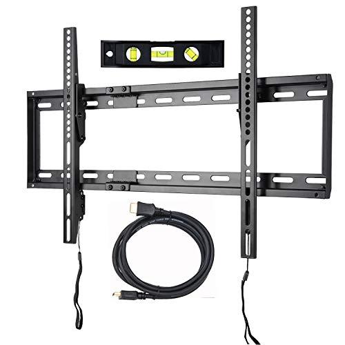 "VideoSecu Mounts Tilt TV Wall Mount Bracket Compatible Most 23""- 75"" Samsung, Sony, Vizio, LG, Sharp LCD LED Plasma TV with VESA 100x100 400x400 up to 684x400mm, Bonus HDMI Cable and Bubble Level MF608B2 WT1"