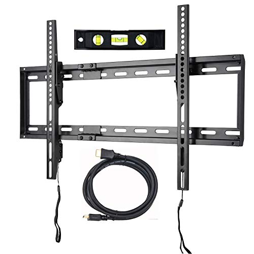 VideoSecu Mounts Tilt TV Wall Mount Bracket for Most 23'- 75' Samsung, Sony, Vizio, LG, Sharp LCD LED Plasma TV with VESA 100x100 400x400 up to 684x400mm, Bonus HDMI Cable and Bubble Level MF608B2 WT1