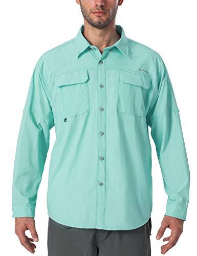 Naviskin - Camiseta de manga larga para hombre con protección solar UPF 50+, ligera, secado rápido, para pesca