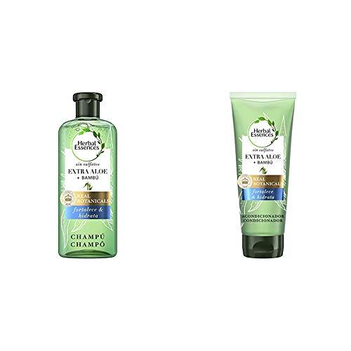 Herbal Essences Champú Bio: Renew sin Sulfatos con Aloe Intenso Y Bambú, en Colaboración con el Royal Botanic Gardens de KEW + Acondicionador Bio: Renew sin Sulfatos con Aloe Intenso Y Bambú