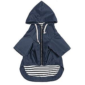 Morezi Zip Up Dog Raincoat with Hood, Rain/Water Resistant, Adjustable Drawstring, Pocket Design, Dog Raincoats – Size XS to XXL Available 0609