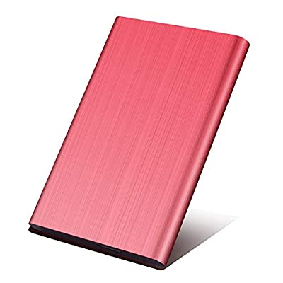 External Hard Drive 1tb,2.5 Inch External Hard Drive USB 3.0 Backup HDD Storage for PC, Xbox One,Laptop,TV.(1TB,RED)