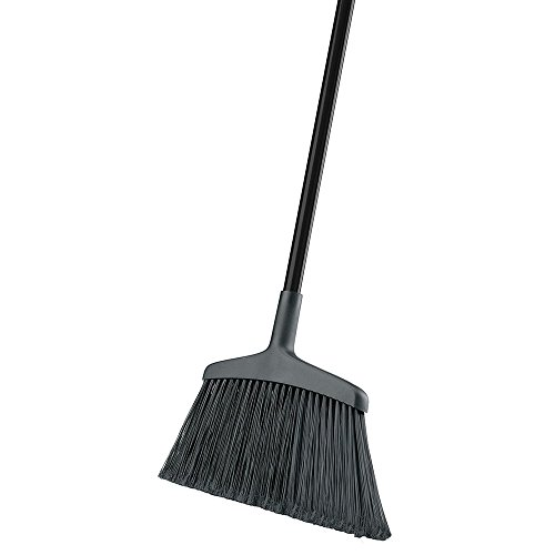 """Libman Commercial 1115 Wide Commercial Angle Broom, Steel Handle, 15"""" Wide, Black Handle (Pack of 6)"""