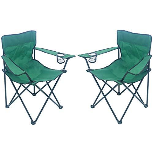 Unbekannt Sparmeile Ambientehome Chaise de Camping Vert foncé
