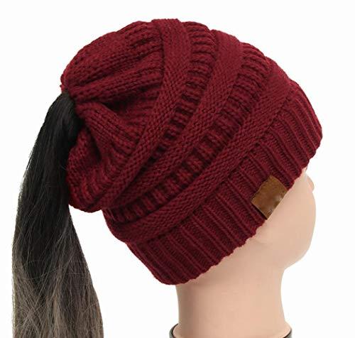 HAOSHA 25 kleuren paardenstaart warme muts vrouwen stretch gebreide muts haken wintermutsen voor vrouwen hoeden