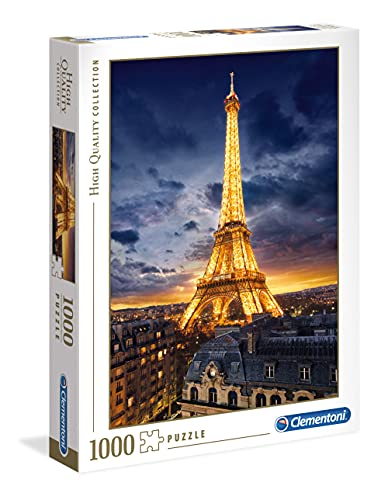 Clementoni - 39514 - High Quality Collection Puzzle - Tour Eiffel - 1000 Pezzi - Made In Italy - Puzzle Adulto