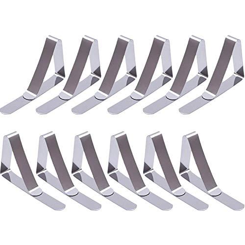 aoory 12 Pack Acier Inoxydable Nappe Clips Pinces à Nappe De Table (Argenté)