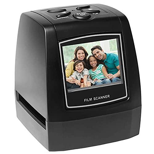 Mini escáner de película Negativa portátil 35 135 mm conversor de película Deslizante Visor de imágenes Digitales fotográficas con Pantalla LCD de 2,36 Pulgadas