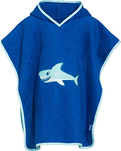 Playshoes Frottee-Poncho Hai Capo d'Abbigliamento, Blu (Original), One Size (S) Jungen