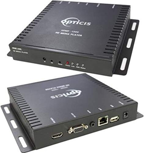 Opticis HDMP-1000 Networked HD Media Player and Management Software, Plays HD Audio and Video Contents On Embedded Flash Memory, Manage Network Setting While Supporting UPNP and DDNS