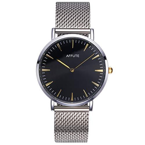 CHEETAH orologio da polso da uomo, minimalista, ultra sottile, in acciaio inox, impermeabile, al quarzo, con lancette dorate