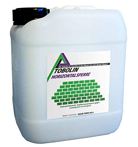 Nachfüllkanister (5 L) für Tobolin Horizontalsperre Injektionsflaschen – Verkieselungsmittel zur Mauerwerkstrockenlegung und Wasserschadensanierung - hocheffektiv gegen aufsteigende Feuchtigkeit