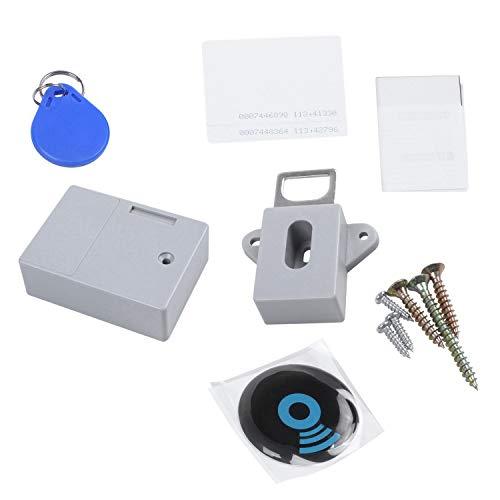 NEYOANN Invisible Oculto RFID Apertura Libre Sensor Inteligente Gabinete Locker Armario Zapatero Cajón Puerta Cerradura Electrónica Oscuro
