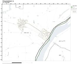 ZIP Code Wall Map of Shawneetown, IL ZIP Code Map Laminated