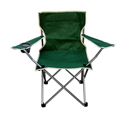 YANJ Taburete para Acampar al Aire Libre Asiento Plegable al Aire Libre Senderismo Festival de Pesca Silla de Picnic para Barbacoa(Verde)