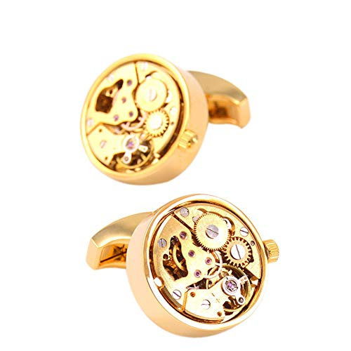 LXFENG Working Watch Movement Manschettenknöpfe, Vintage Deluxe Cufflinks Manschettenknopf Für Männer Hemd Manschettenknöpfe Für Hochzeit Formal Business Schmuck Zubehör Dekoration