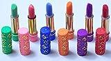 Novedad 6 pintalabios mágicos con aloe - permanentes,aromaticos, hidratantes.(verde, azul, rojo, rosa o amarillo, lila, naranja)