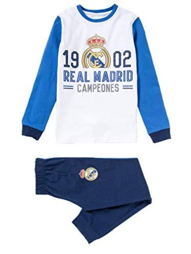Pijama Adulto Real Madrid 1902 Campeones Manga Larga Fino
