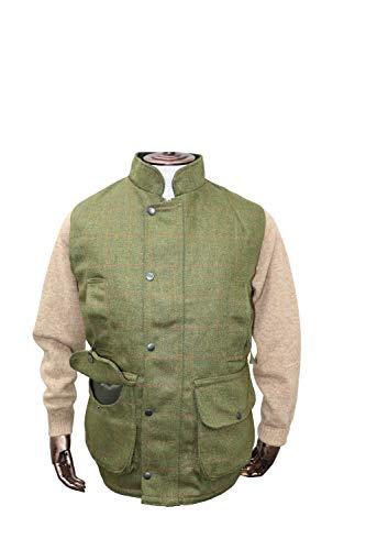 Chaleco de tweed Hunter Outdoor Shooting, color Verde oscuro, tamaño XXXL