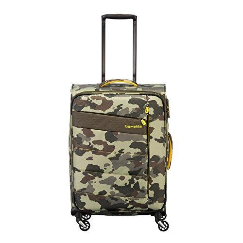 """Travelite Extrem leicht: """"KITE"""" – sportlich-klassische Trolleys, Trolley-Reisetaschen und Bordtaschen Koffer, 64 cm, 67L, Camouflage"""
