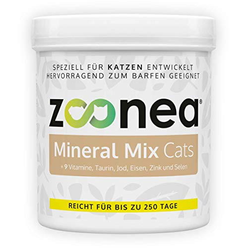 Mineral Mix Cats (250 g) - Premium Zusatz für Katzen - Beinhaltet wichtige Mineralstoffe, Vitamine und Spurenelemente - Ideal für Barf geeignet - Katzen Mineralien