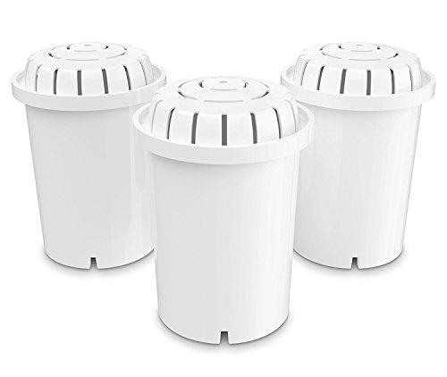 PH001 Filterkartusche für natürlich gereinigtes, basisches, ionisiertes Trinkwasser - Ersatzfilter für pH RECHARGE, pH RESTORE & pH REFRESH - Trinkwasseraufbereitung - für 360 l Wasser - 3er-Pack