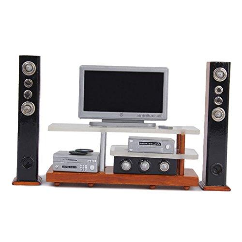 ZSMD - Kit de sonido de DVD para TV en miniatura 1/12 Dollhouse para juegos de muebles de salón