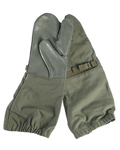 Unbekannt ECHTE Deutsche Army Issue Trigger Finger Olive über Pad mit Leder Handfläche und Daumen Armee ausgegeben ungebraucht