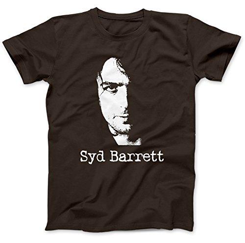zhixiang Inspired by Syd Barrett T-Shirt Cotton Music Gift Present Dark-Chocolate 3XL