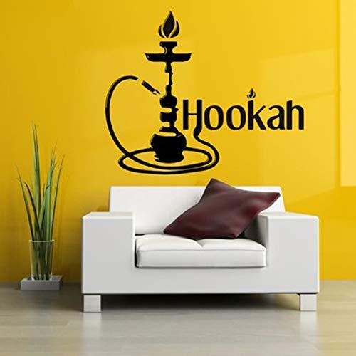mlpnko Tubo Etiqueta de la Pared Árabe Cigarrillo Tabaco Humo Calcomanía de Pared Vinilo Decoración Pared Extraíble42X56cm