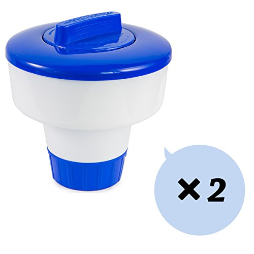 "XtremepowerUS 3"" Floating Tablet Chlorine Dispenser, 3lb Capacity Chemical Dispenser Swimming Pool Spa Dispenser 2-Pack"