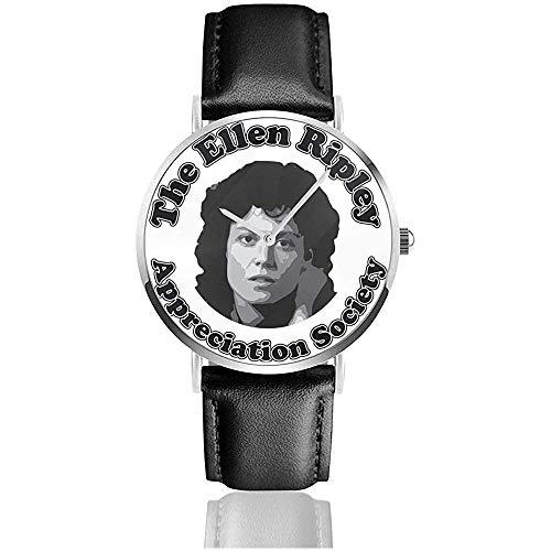 Unisex Business Casual Alien Die Ellen Ripley Appreciation Society Uhren Quarz Leder Uhr