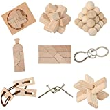 [page_title]-Bartl 111021 9 Knobelspiele aus Holz und Metall Sortiert im Spar-Knobel-Pack für Erwachsene und Kinder