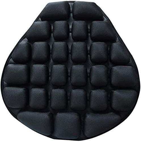 Motorrad Sicherheitsmatratzen Sitzkissen Luftsitz Kissen Wasser Füllbare Abkühlung Sitz Pad Druckentlastung Motorrad Luftsitz Pad für Cruiser Touring Sättel 1222 (Color : Black, Size : 36 * 37.5 * 4)