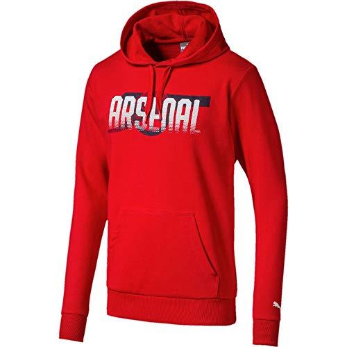 PUMA Herren Arsenal FC Fan CANNON Hoodie, High Risk Red, 60-62 (Herstellergröße: XXL)