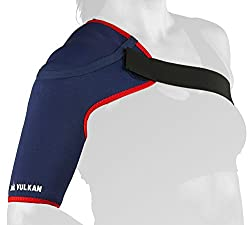 Vulkan Sports Shoulder Support, Medium, Breathable Neoprene Compression Wrap, Left or Right Shoulder, Injury Relief & Prevention, Recovery & Rehabilitation, for Joint, Minor Tendon, Ligament Injuries